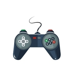 picture of gamepad in flat style vector image