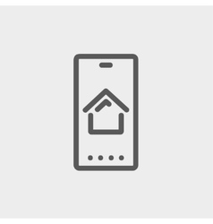 Real estate business card thin line icon vector