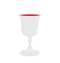 Religious wine cup for kiddush vector