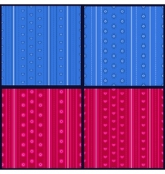 Set of striped patterns vector
