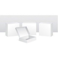 set of white product packaging vector image