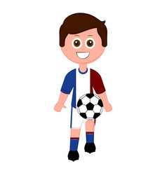 soccer player with a soccer ball vector image