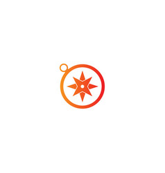 Star compass direction logo vector