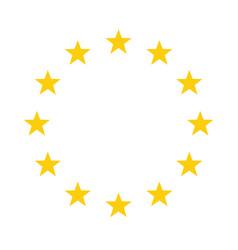 The wreath of stars of eu vector