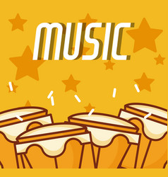 Timbals music instrument vector