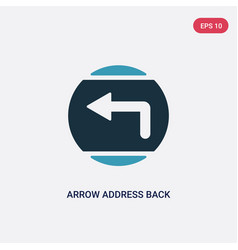 two color arrow address back icon from user vector image