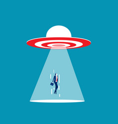 Ufo target are sucking people into spacecraft vector