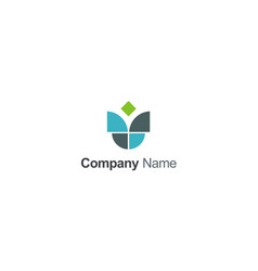 unusual shape geometry company logo vector image
