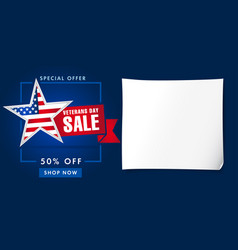 veterans day usa sale poster blue vector image
