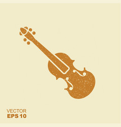 violin icon musical instrument symbol vector image