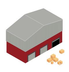 Warehouse isometric vector