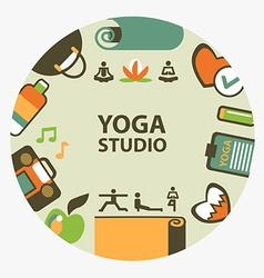 Yoga studio emblem vector image
