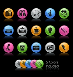 Office Business Icons vector image vector image