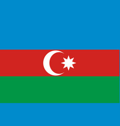 the flag of azerbaijan vector image