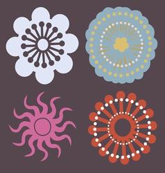 beginning of spring flowers vector image