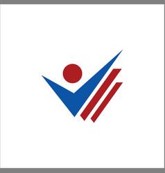 business check list logo vector image