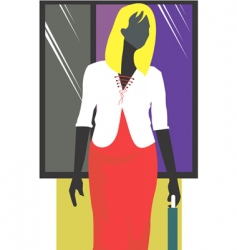 businesswoman abstract vector image