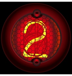 Digit 2 two Nixie tube indicator vector image vector image