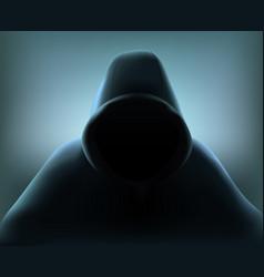 hacker realistic composition vector image