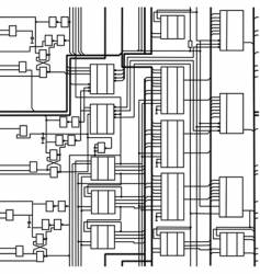 digital electronic scheme vector image