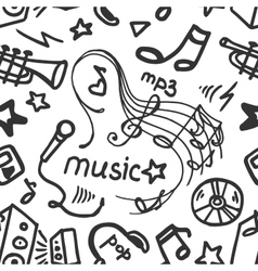 Doodle pattern music vector image
