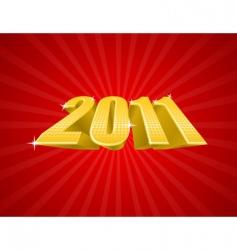 golden 2011 year vector image