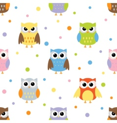 owls pattern vector image vector image