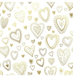 Seamless background with hand drawn hearts vector image vector image