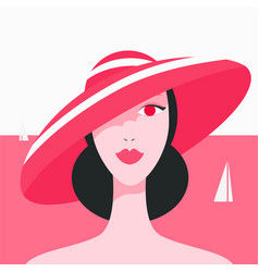 stylish beautiful model for fashion design art vector image vector image