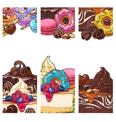 banner label postcard templates with sweet vector image vector image