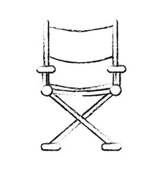 blurred silhouette image cinema director chair vector image