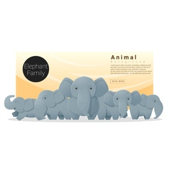 Cute animal family background with elephants 2 vector