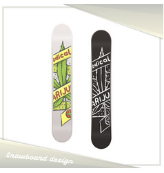 Medical marijuana snowboard eight vector