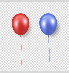 3d realistic glossy metallic red and blue vector image
