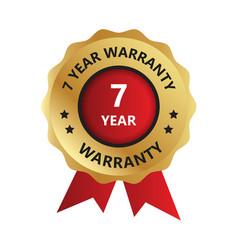 7 year warranty badge warranty certificate yea vector