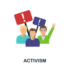 Activism flat icon colored filled simple activism vector