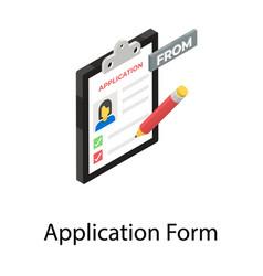 Application form vector
