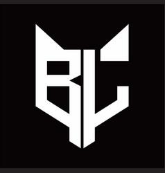 bl logo monogram with fox head shape design vector image
