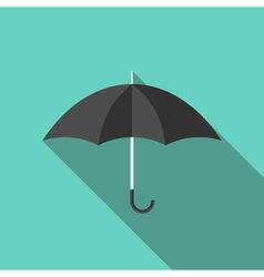 Black umbrella flat style vector image