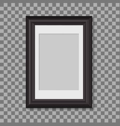 blank picture frame for photographs vector image