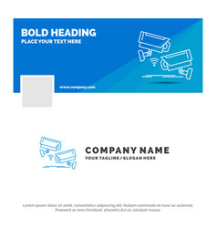 blue business logo template for cctv camera vector image