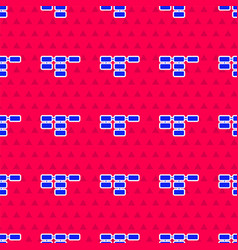 Blue site map icon isolated seamless pattern on vector