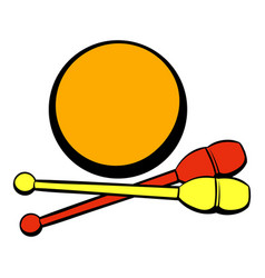 bowling ball and pins icon icon cartoon vector image