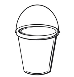 Bucket with handle vector