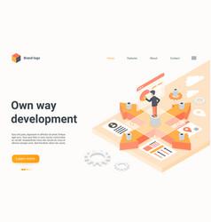 business development isometric landing page vector image