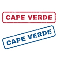 Cape Verde Rubber Stamps vector image