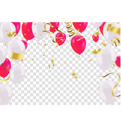 celebration party banner with red and white vector image