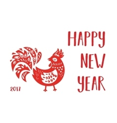 Chinese calendar rooster year vector