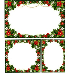collection of beautiful decorative frames vector image