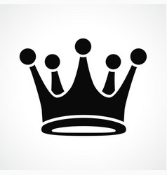 crown icon black design vector image